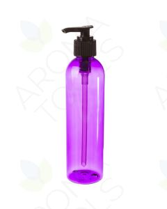 8 oz. Purple Plastic Bottle with Black Pump