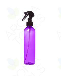 8 oz. Purple Plastic Bottle with Black Trigger Sprayer