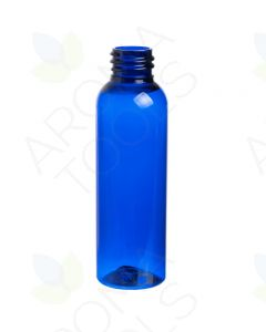 2 oz. Blue PET Plastic Bullet Bottle (20-410 Neck Size)
