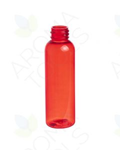 2 oz. Red PET Plastic Bullet Bottle (20-410 Neck Size)