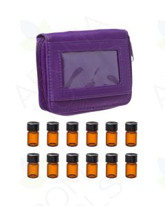 Purple Sample Case with 12 Sample Vials (5/8 Dram)