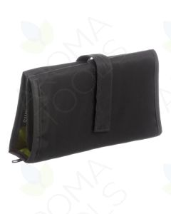 Gray Folding Pill Wallet with Green Lining (Includes Pill Bags)