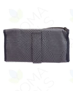 Gray and White Polka Dots Folding Pill Wallet (Includes Pill Bags)