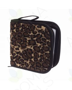 Leopard Print Small Essential Oil & CD Combo Case (Holds 49 Sample Vials)
