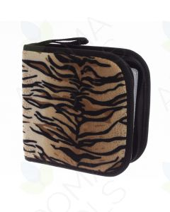 Tiger Print Small Essential Oil & CD Combo Case (Holds 49 Sample Vials)