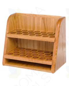 2-Shelf, Handcrafted Oak Storage and Display Rack (Holds 46 vials)