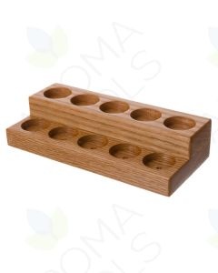 Mini 2-Tier Oak Display Riser (Holds 10 Vials)