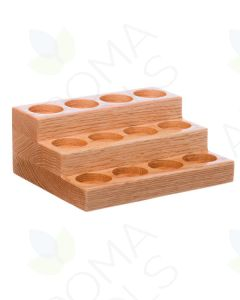Mini 3-Tier Oak Display Riser (Holds 12 Vials)