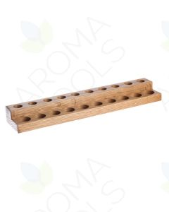 2-Tier Oak Riser for Vials and Roll-ons (Holds 10 Each)
