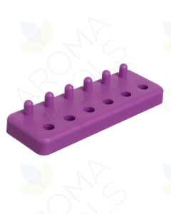 "Purple Plastic ""0"" Capsule Holder (6 Slots/6 Pegs)"