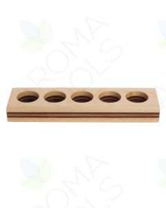 Single-Row Wood Essential Oil Display (Holds 5 Vials)