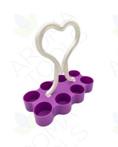 Purple Portable 5 ml Vial Caddy (Holds 8 Vials)