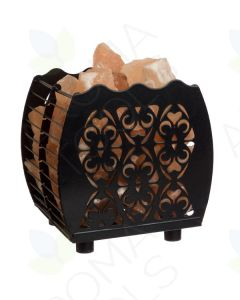 Himalayan Salt Lamp with Flanigan-cut Hybrid Basket