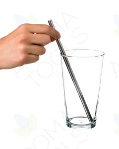 Straight Stainless Steel Drink Straws (Pack of 4)