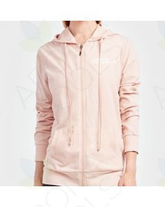 Women's Blush Thin Zip-UP Hoodie with Embroidered doTERRA Logo