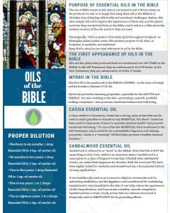 """Oils for the Bible"" Digital Tear Pad"