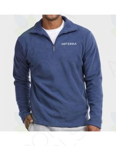 Men's Denim Fleece Pullover with Embroidered doTERRA Logo
