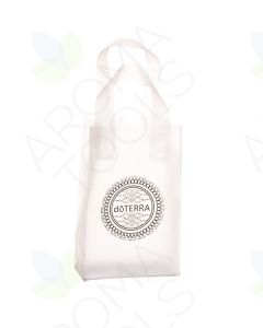 Small, Frosted doTERRA Branded Plastic Gift Bags (Pack of 10)