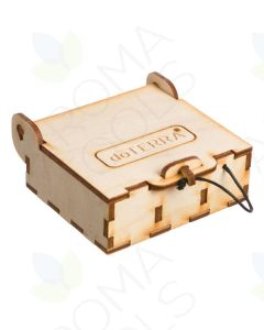 Mini doTERRA Branded Natural Wood Essential Oil Box (Holds 3 Vials)