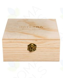 doTERRA Branded Pinewood Essential Oils Box (Holds 25 Vials)