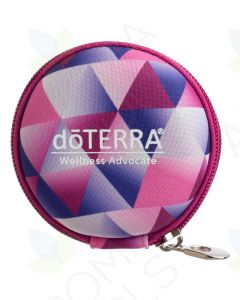 doTERRA Branded Round Hard Shell Case for 5/8 Dram Vials (Holds 8 Vials)