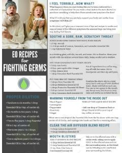"""Essential Oils for Fighting Germs"" Digital Tear Pad"