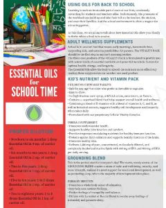 """Essential Oils for School Time"" Digital Tear Pad"