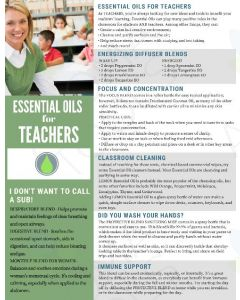 """Essential Oils for Teachers"" Digital Tear Pad"