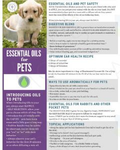 """Essential Oils for Pets"" Digital Tear Pad"