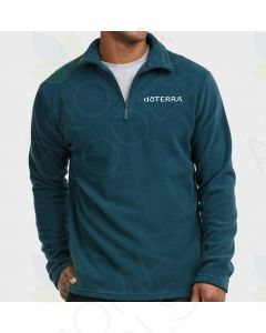 XL Men's Teal Fleece Pullover with Embroidered doTERRA Logo