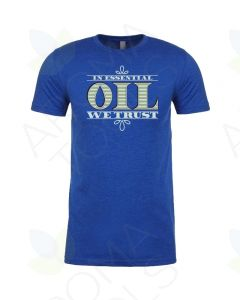 "Unisex Royal ""In Essential Oil We Trust"" Short Sleeve Shirt"