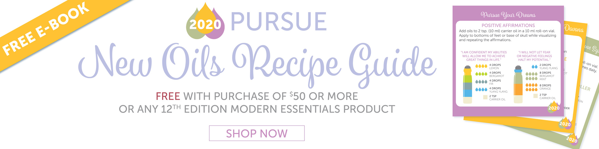 New Oils Recipe Guide Free with a Purchase of $50 or More
