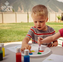 Essential Oil–Scented Finger Paint