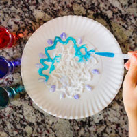 Salt Painting with Essential Oils