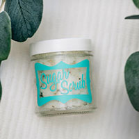 Peppermint Lime Sugar Scrub